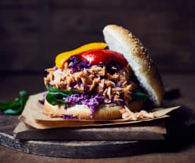 Pulled-Jackfrucht-Burger
