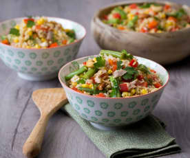 Rice Cooker Brown Rice Salad