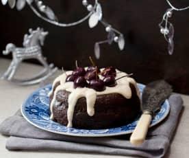 Sago plum pudding
