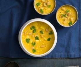 Sweetcorn and potato chowder