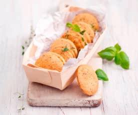 Ciasteczka z parmezanem i ziołami prowansalskimi
