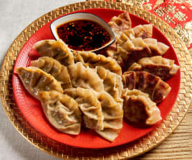 Vegetarian Potstickers with Chili Dipping Sauce