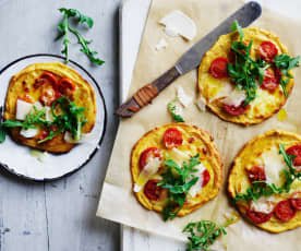 Sweet potato and chickpea pizzas (Toddlers and beyond)