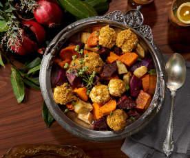 Sweet Potato Casserole with Labne and Dukkah (Bill Yosses)