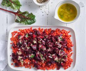 Insalata di barbabietole e lenticchie