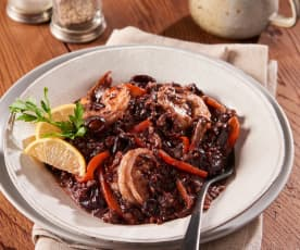 Black Rice Risotto with Mixed Seafood
