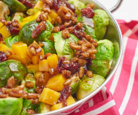 Cranberry-Pecan Brussels Sprouts