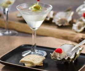 Dry martini con ostras