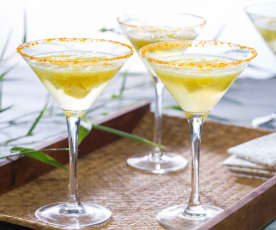 Mango martini mocktail