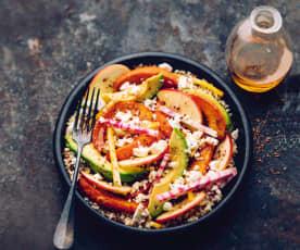Bol complet aux légumes, quinoa et graines de lin