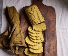Pão de grão-de-bico e trigo sarraceno sem glúten
