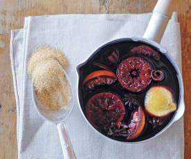 Vin chaud aux agrumes