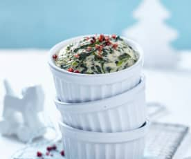Spinat-Gorgonzola-Soufflé