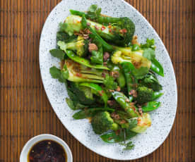 Steamed Chinese greens