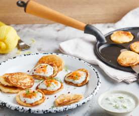 Blinis de pomme de terre au saumon fumé