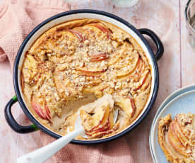 Clafoutis aux pommes et lait de noisette