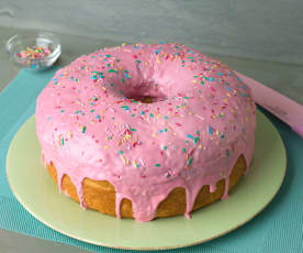 Tarta rosquilla gigante (doughnut)