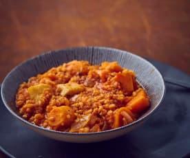 Tuberi stufati e cereali a Cottura Lenta