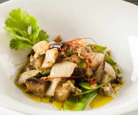 Curry verde con berenjenas
