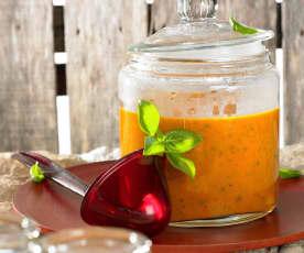 Tomatensuppe mit Orangensaft