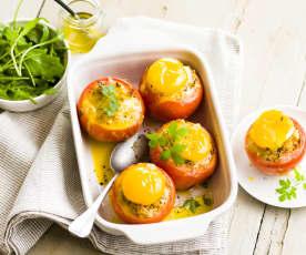 Œuf en cocotte de tomate