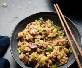 Hong Kong rijst met worst