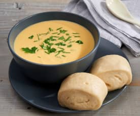 Mantou Buns with Whole Butternut Squash Soup (TM5 Metric)