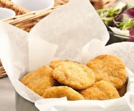 Nuggets de pollo y queso emmental
