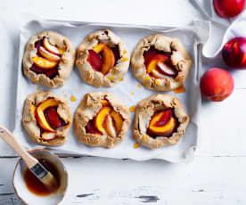 Stone fruit galettes