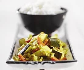 Zeleninové kari s rýží