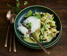 Grünes Poulet-Curry