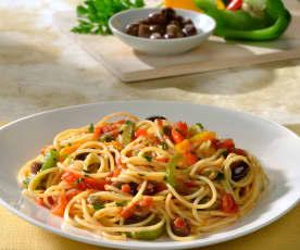 Spaghettini mit Peperoni