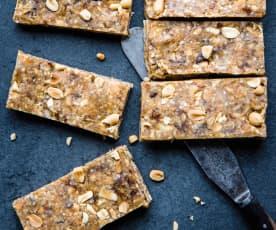 Barres au quinoa et beurre de cacahuètes