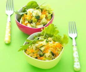 Salade vitaminée pomme-mimolette