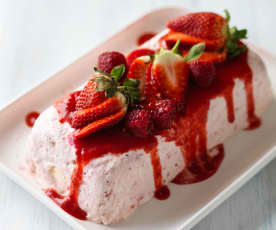 Eton Mess Parfait with Berry Sauce