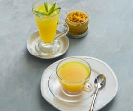 Turmeric, lemon and ginger tea