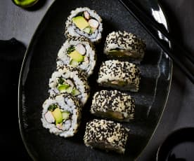 California Roll (Inside-out-Sushi)