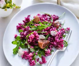 Salát z červeného zelí s gorgonzolou a fíky