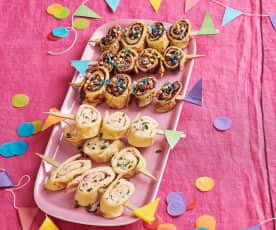Pfannkuchen am Spieß