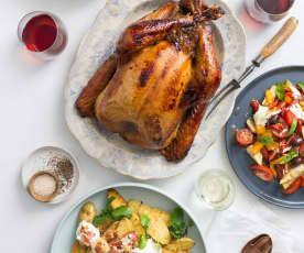 Orange-brined turkey
