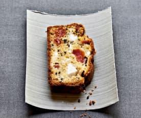 Cake tomate, feta et graines de nigelle