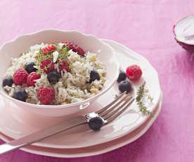 Arroz pilaf con frutos rojos