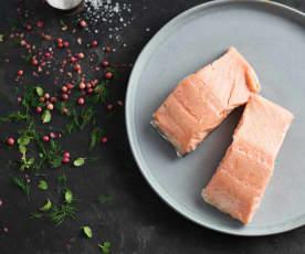 Sous-vide poisson gras, avec ou sans peau (saumon)