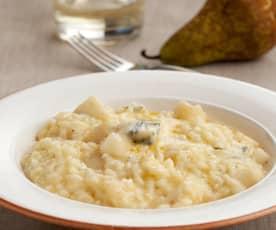 Risotto con pera y gorgonzola