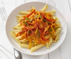 Paprika-Salami-Sauce