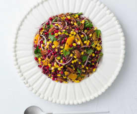 Sweetcorn and black rice salad