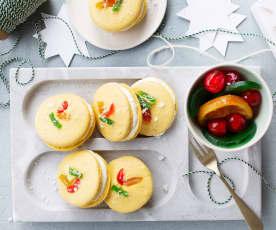 Macarons roscón de Reyes