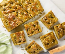 Spinach and Olive Focaccia