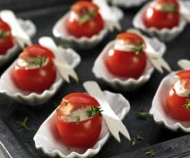 Pomodorini sfiziosi al prosciutto