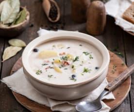 Zupa z ziemniakami i maślanką (dziadówka)